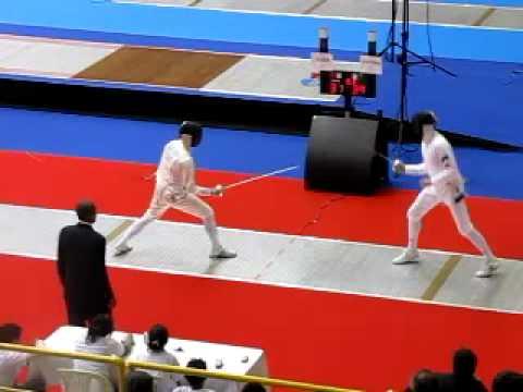 Epee Bogota Grand Prix 2009 - TEAMS  SWITZERLAND vs STONIA 9/9   Kauter vs Novosjolov