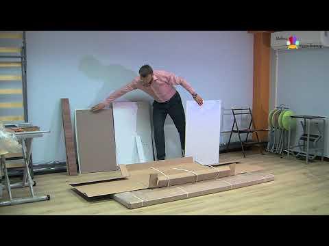 Распаковка ЛДСП для стол кровати. Мебель-трансформер.рф