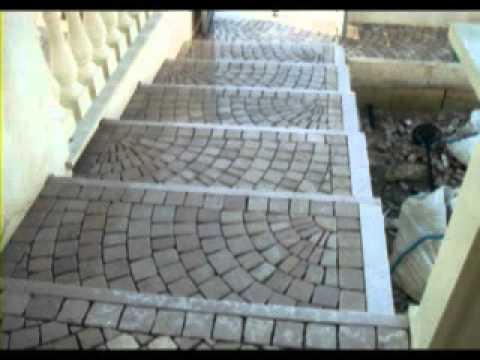 Plm pavimenti per esterni in pietra in sampietrini rivestimenti marmo mosaico porfido a lecce - Mosaico per esterno ...