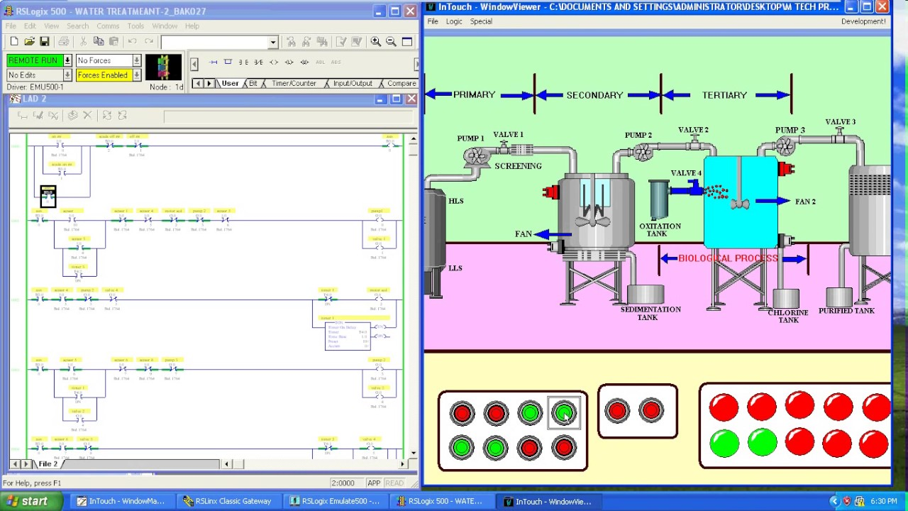 Water Treatment Using Plc And Scada Youtube Ladder Logic Training For Dummies