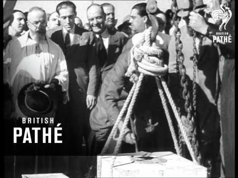 Italia Aka Mussolini Lays Foundation Stone For New Building Site (1930)