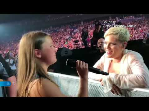 12 Year Old Vancouver Girl Sings With P!nk!