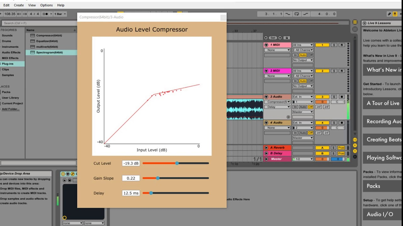 Audio Compressor Plugin Made With JUCE