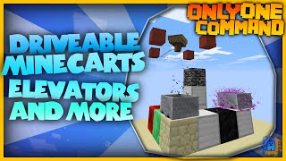 Minecraft - Driveable Minecart, Elevator & more! | Only One Command! | No Mods! (Vanilla)