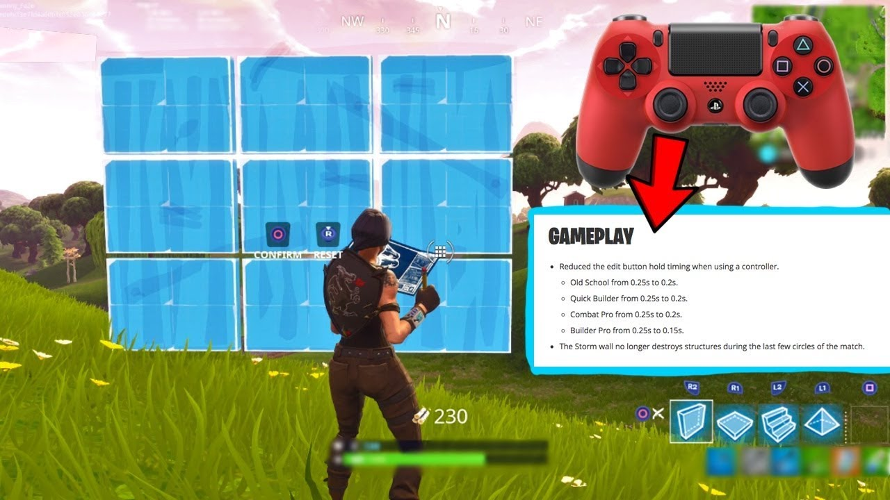 fortnite fixed the edit button on console - how to edit walls in fortnite