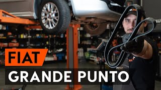 How to change serpentine belt / v-ribbed belt on FIAT PUNTO 199 [TUTORIAL AUTODOC]