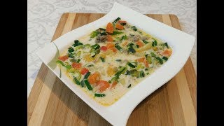 Самый вкусный,сытный и быстрый суп!- (Käse-Lauch-Suppe)