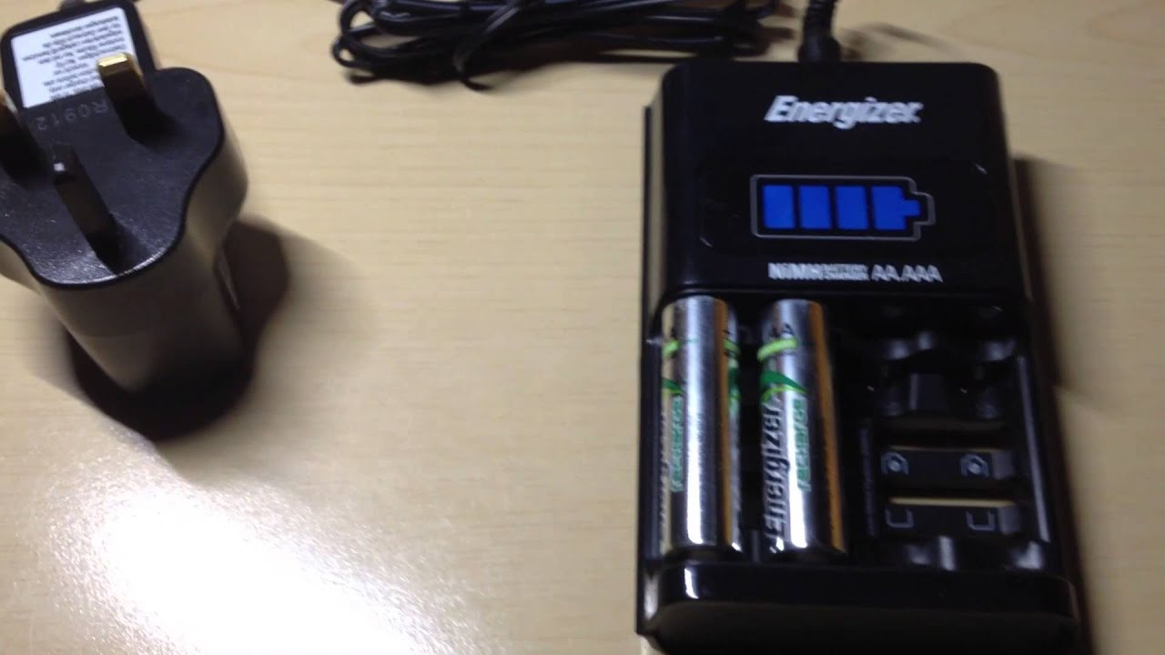 Energizer 1hour Battery Charger Fast Charging Rechargeable