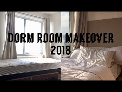 College Move In Day 2018 | Dorm Room Makeover