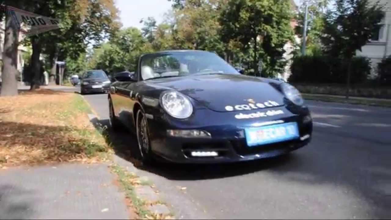 porsche 911 cabrio umbau zum elektroauto youtube. Black Bedroom Furniture Sets. Home Design Ideas