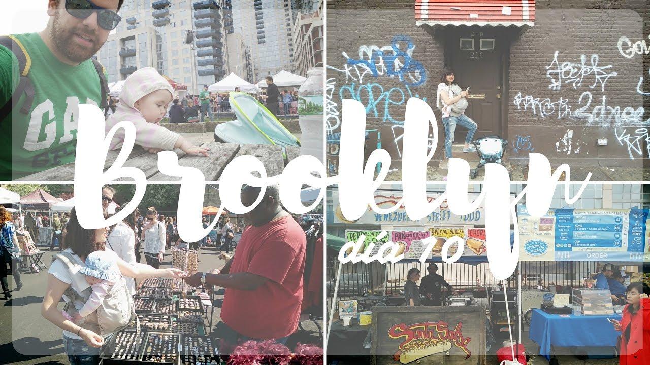 Vlog bebé de viaje en Nueva York - Brooklyn | Mercado de Smorgasburg | Fort Greene Market (día 10)