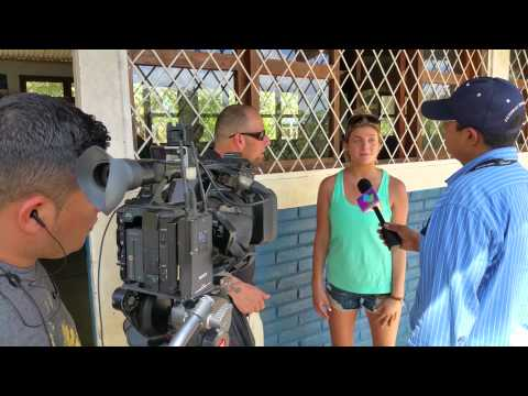 Ashley is interviewed by Nicaragua #1 news station