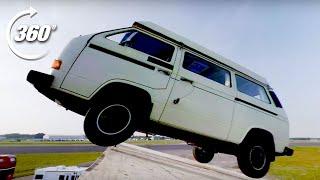 360º Festival Camper Stage Dive!   Top Gear: Jumps