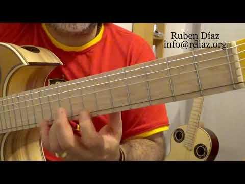 Learn Paco de Lucia´s Whole tone scale fingerings /Modern flamenco guitar lesson by Ruben Diaz