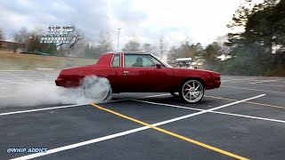 WhipAddict: Pure Power! Supercharged 408 Small Block Let's Loose! Kandy Cutlass Burnouts &