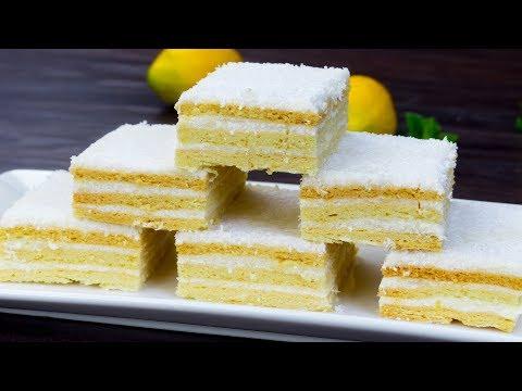 gâteau-«-blanche-neige-»---le-plus-populaire-et-délicieux-gâteau-roumain-!-|-savoureux.tv
