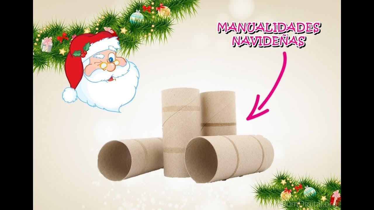 adornos navide os con rollos de papel higienico youtube. Black Bedroom Furniture Sets. Home Design Ideas