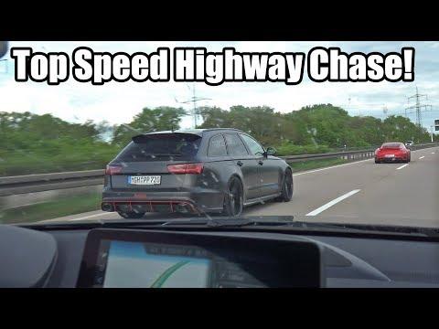 Top Speed Autobahn Chase! 750HP Audi RS6 Vs 800HP Porsche 911 Turbo S Vs 450HP BMW M2