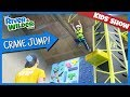 KIDS CLIMBING AND CRANE JUMP FAMILY FUN | YOUTUBE FOR KIDS