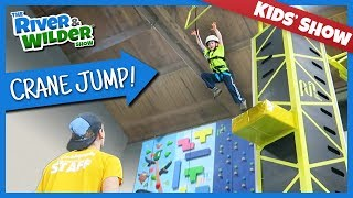 KIDS CLIMBING AND CRANE JUMP FAMILY FUN | YOUTUBE FOR KIDS