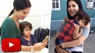 (Video) Sunny Leone's Cute Moment With A Lil Fan! | LehrenTV