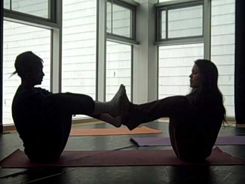 teen partner yoga boat pose  youtube