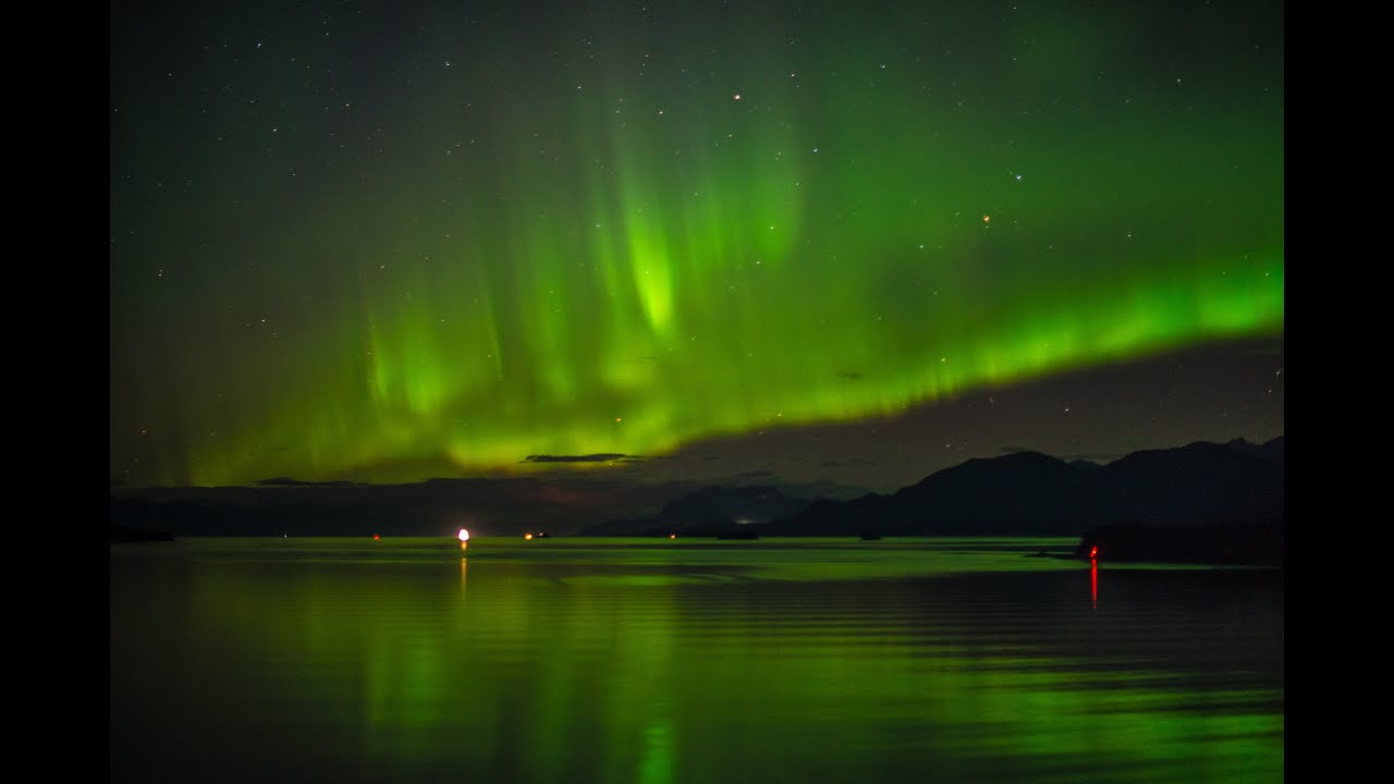 northern lights in the skies from an alaska cruise youtube. Black Bedroom Furniture Sets. Home Design Ideas