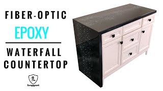Fiber Optic Waterfall Epoxy Countertop | YouTube Winner!