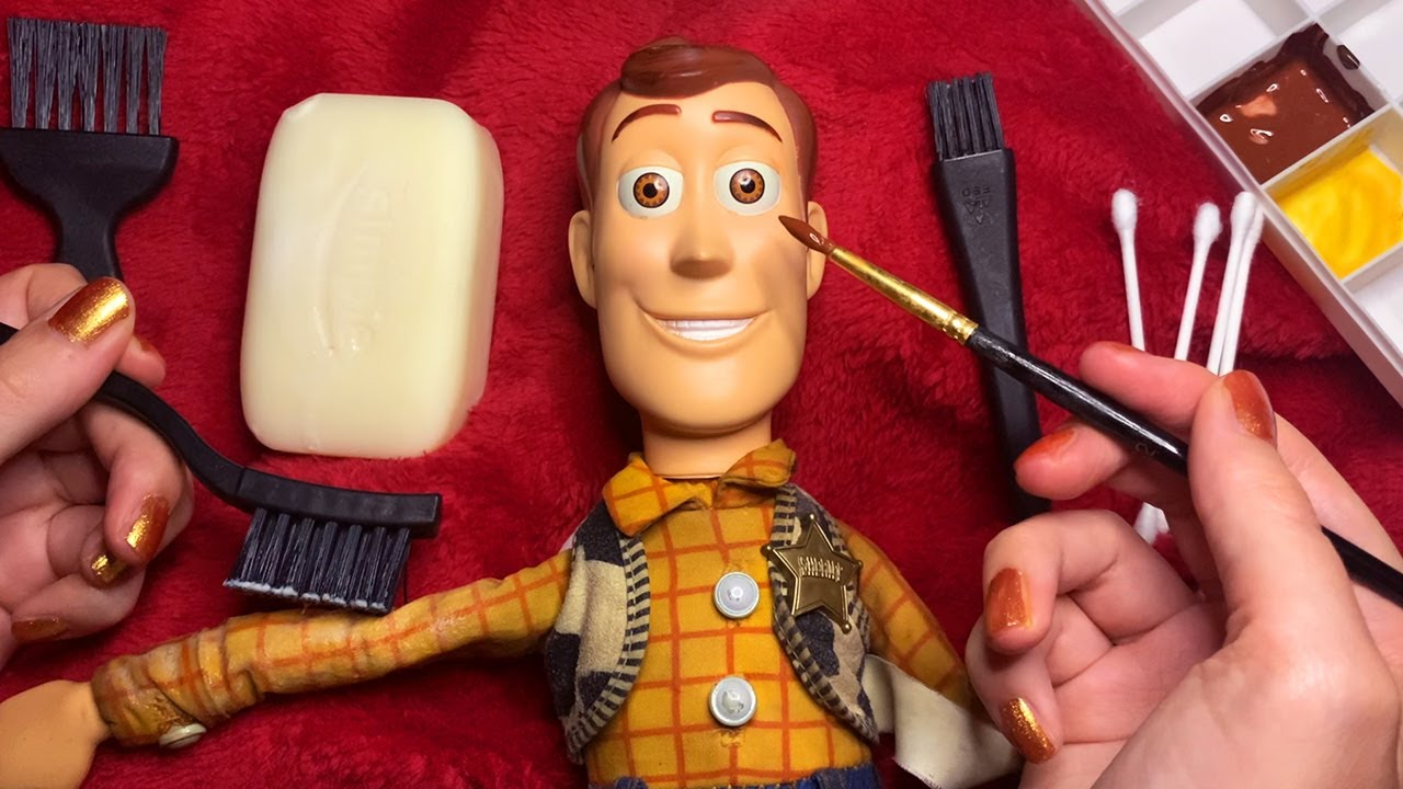ASMR Woody Repair and Cleaning (Whispered)