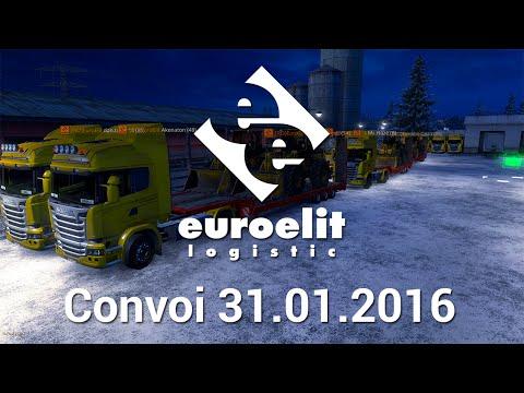 ETS 2- [RO]EuroElit Convoi! [1.31.2016] Scandinavia