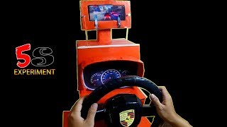 how To Make Porsche Gaming Steering From Cardboard