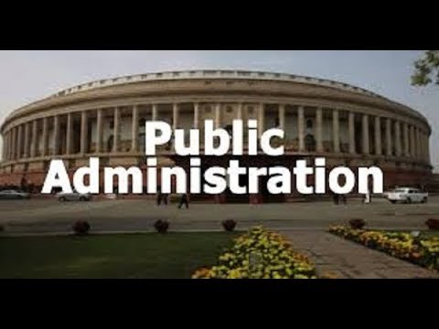Public Administration and Private Administration or Management