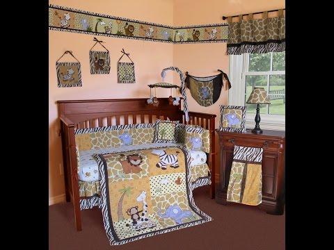 Custom Baby Bedding (Sisi Baby Designs) - African Safari Baby Bedding