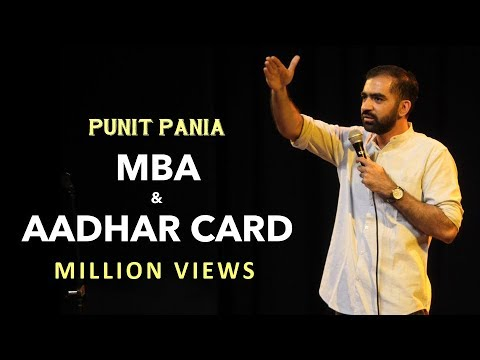 MBA and Aadhar Card | Punit Pania Stand-up Comedy