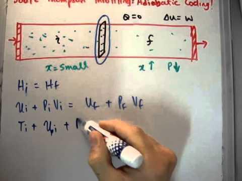 Thermodynamics 49 : Joule Thompson Throttling / Adiabatic Cooling