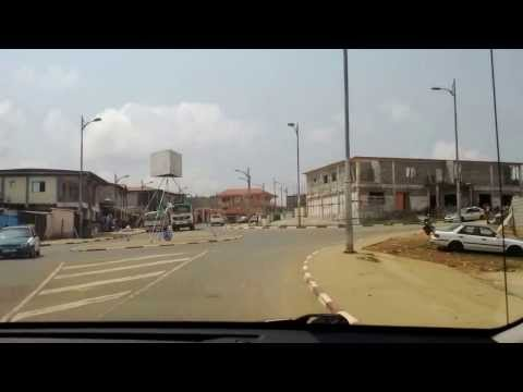 Driving around Mongomo Equatorial Guinea