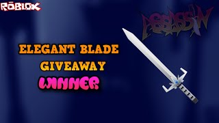 WHO WON THE ELEGANT BLADE GIVEAWAY?! *THE WINNER FINALLY ANNOUNCED* (ROBLOX ASSASSIN TYSM FOR 10K)