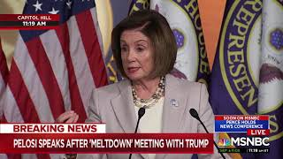 Speaker Nancy Pelosi explains what was happening in the photo Trump tweeted out