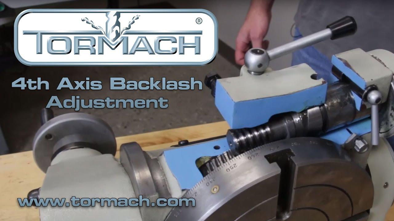 4th Axis CNC Backlash Adjustment