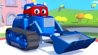 Super Camionul Si Buldozerul în Orasul Masinilor Desene Cu Masini Pentru Copii