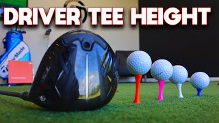 Correct tee height for DRIVER, have you been getting it ALL WRONG?