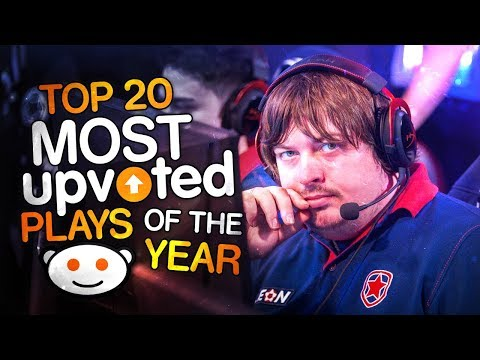 CS:GO -  TOP 20 MOST UPVOTED PLAYS OF THE YEAR 2017! (INSANE CLUTCHES, CRAZY VAC SHOTS)