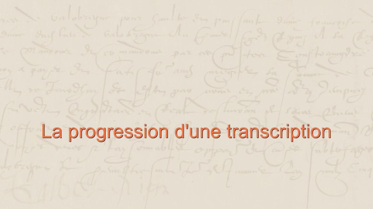 transcriptions en ligne de rencontres