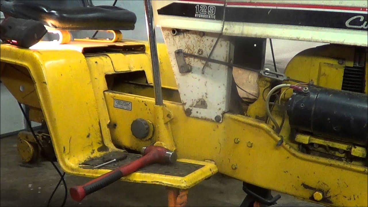 52313 Cub Cadet 129 hydraulic lift retrofit  YouTube