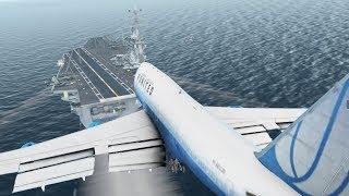 Big Planes Landing on an Aircraft Carrier [XP11]