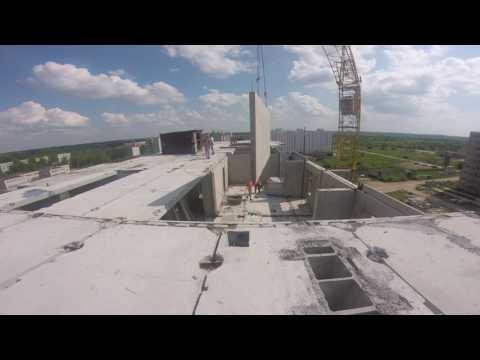 Монтаж панельного 9-ти этажного здания