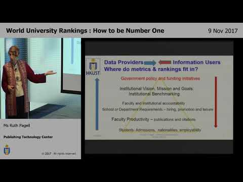 World University Rankings : How to be Number One