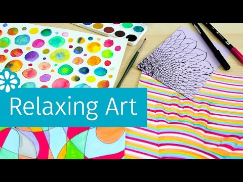 4 Easy Art Projects to Help You Relax & De-Stress | Sea Lemon
