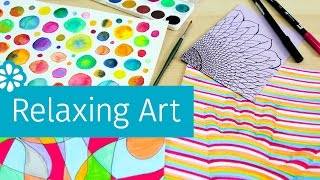 4 Easy Art Projects to Help You Relax & De-Stress | Sea Lemon