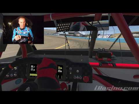 Kevin Harvick Takes Laps At Phoenix Raceway On IRacing